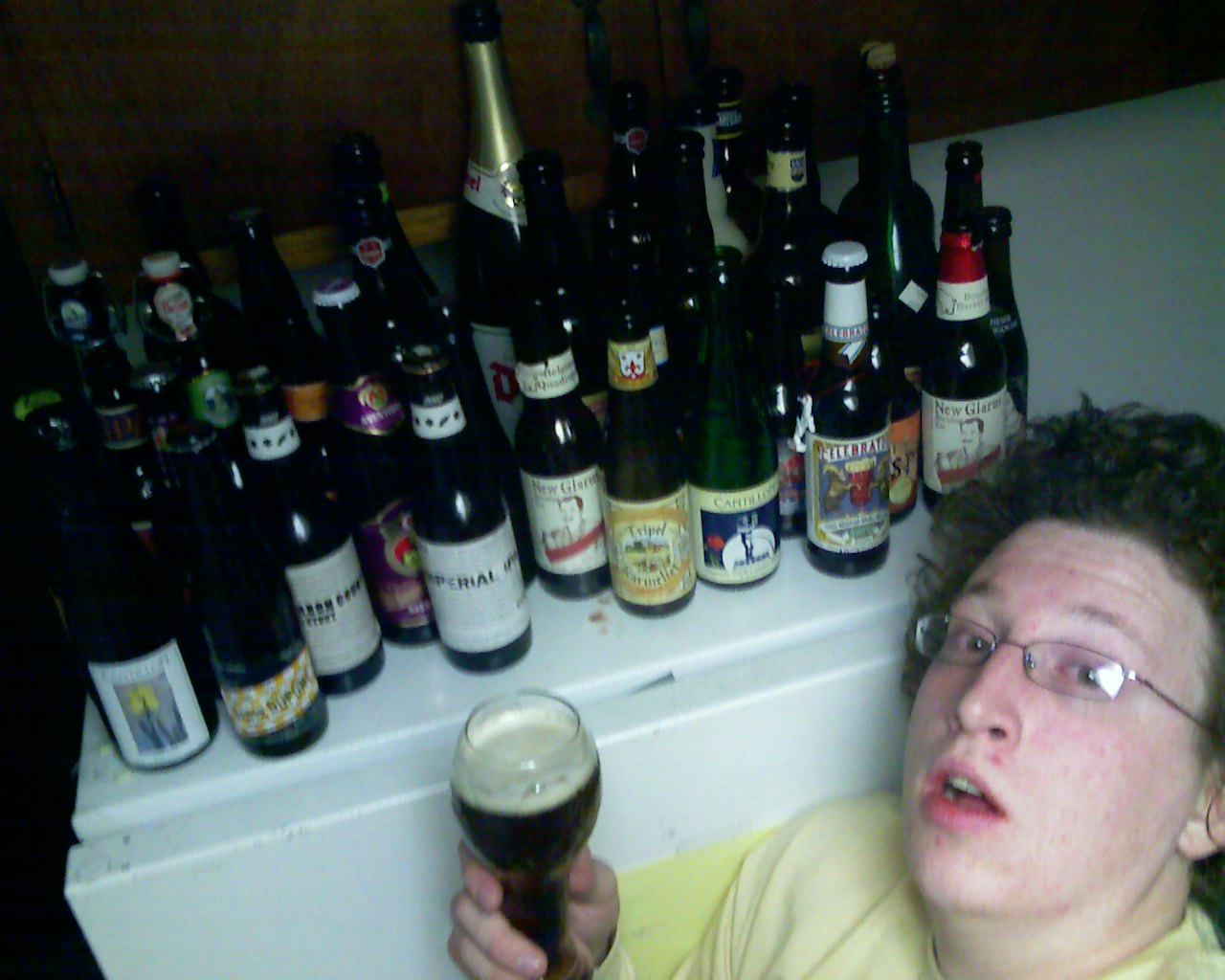 Me and some bottles.