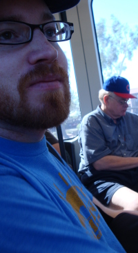 The broski and the pops on the new light rail.