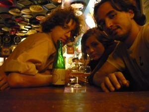 Friends at the Delirium Cafe