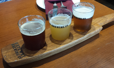 Gateway Brewing beer flight